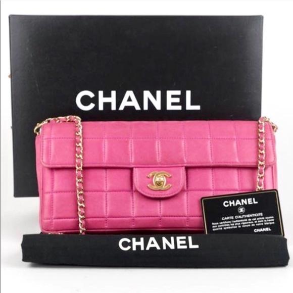CHANEL Handbags - Chanel Pink Chocolate Bar E/W Flap Bag  💕